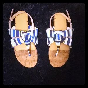 Nine west buckled sandals like new